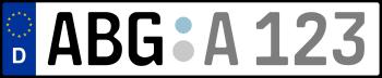 Kennzeichen ABG