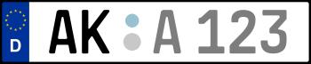 Kennzeichen AK