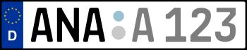 Kennzeichen ANA