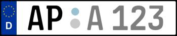 Kennzeichen AP