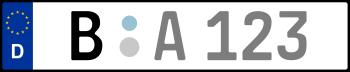Kennzeichen B: Nummernschild von Berlin