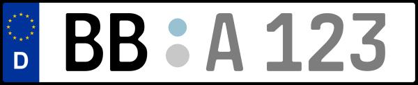 Kennzeichen BB: Nummernschild von Böblingen, KreisRegion (Landkreis)
