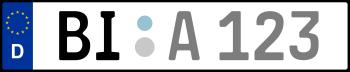 Kennzeichen BI: Nummernschild von Bielefeld