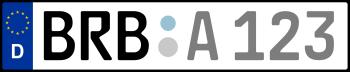 Kennzeichen BRB