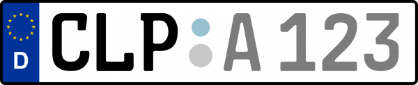 Kennzeichen CLP: Nummernschild von Cloppenburg, KreisRegion (Landkreis)