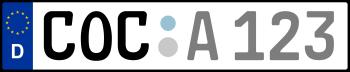 Kennzeichen COC