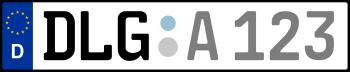 Kennzeichen DLG