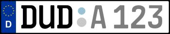 Kennzeichen DUD