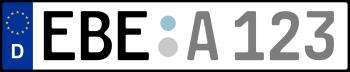 Kennzeichen EBE