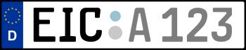 Kennzeichen EIC