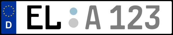 Kennzeichen EL: Nummernschild von Emsland, KreisRegion (Landkreis)