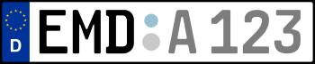 Kennzeichen EMD