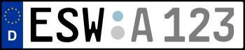 Kennzeichen ESW