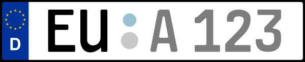 Kennzeichen EU: Nummernschild von Euskirchen, KreisRegion (Kreis)