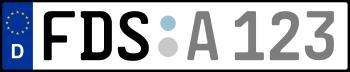 Kennzeichen FDS