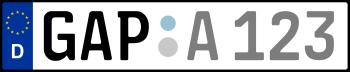 Kennzeichen GAP