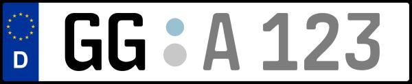Kennzeichen GG: Nummernschild von Groß-Gerau, KreisRegion (Landkreis)