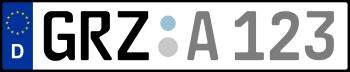 Kennzeichen GRZ
