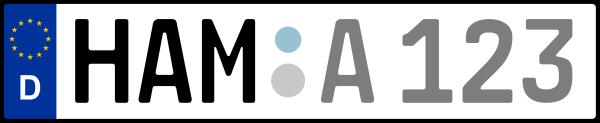 Kennzeichen HAM: Nummernschild von Hamm, KreisRegion (Kreisfreie Stadt)