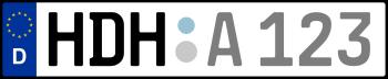Kennzeichen HDH