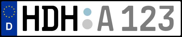 Kennzeichen HDH: Nummernschild von Heidenheim, KreisRegion (Landkreis)