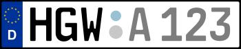 Kennzeichen HGW