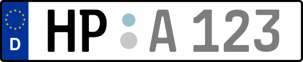 Kennzeichen HP: Nummernschild von Bergstraße, KreisRegion (Landkreis)