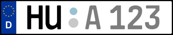 Kennzeichen HU: Nummernschild von Hanau + 1 Regionen