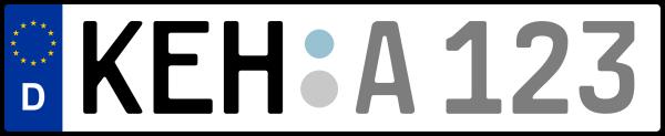 Kennzeichen KEH: Nummernschild von Kelheim, KreisRegion (Landkreis)