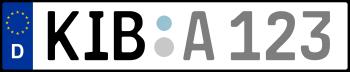 Kennzeichen KIB