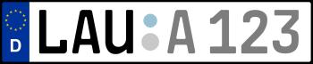 Kennzeichen LAU