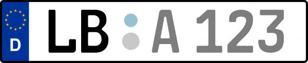 Kennzeichen LB: Nummernschild von Ludwigsburg, KreisRegion (Landkreis)
