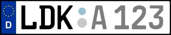 Kennzeichen LDK
