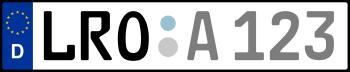 Kennzeichen LRO