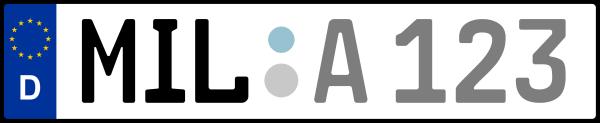 Kennzeichen MIL: Nummernschild von Miltenberg, KreisRegion (Landkreis)