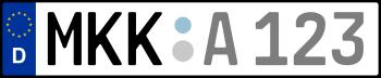 Kennzeichen MKK