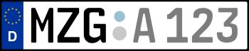 Kennzeichen MZG