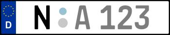 Kennzeichen N: Nummernschild von Nürnberg