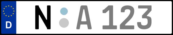Kennzeichen N: Nummernschild von Nürnberg (Bayern)