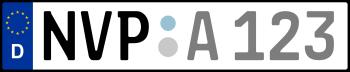 Kennzeichen NVP