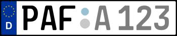 Kennzeichen PAF