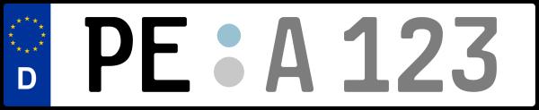 Kennzeichen PE: Nummernschild von Peine, KreisRegion (Landkreis)