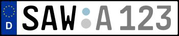 Kennzeichen SAW