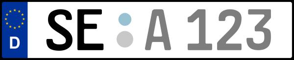 Kennzeichen SE: Nummernschild von Segeberg, KreisRegion (Kreis)