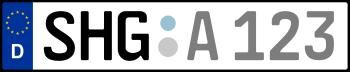 Kennzeichen SHG