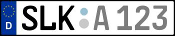 Kennzeichen SLK
