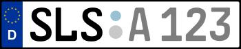 Kennzeichen SLS