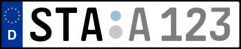Kennzeichen STA