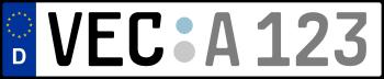 Kennzeichen VEC