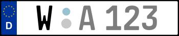 Kennzeichen W